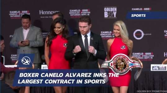#LatinoAthlete Canelo Alvarez Largest Contract in Sports $365 Million